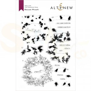 Altenew, clearstamp Blossom Wreath ALT4115