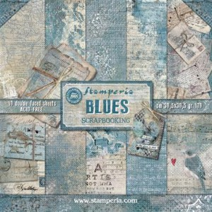 SBBL26 paperpad 12x12 inch Stamperia, Blues