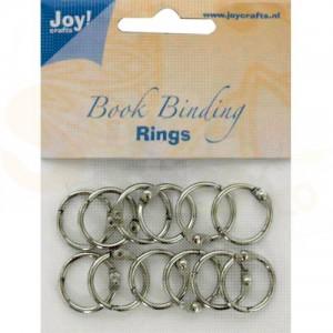 6200/0120 boekbindringen 25 mm (12 stuks) zilver