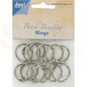 6200/0121 boekbindringen 30 mm (12 stuks) zilver
