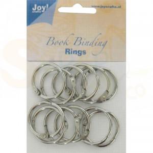 6200/0122 boekbindringen 35 mm (12 stuks) zilver