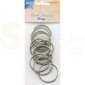 6200/0123 boekbindringen 45 mm (12 stuks) zilver