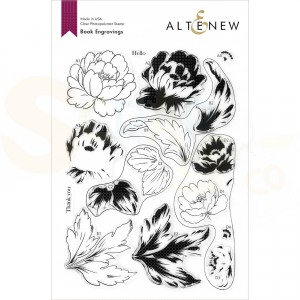 Altenew, clearstamp Book Engravings ALT4918