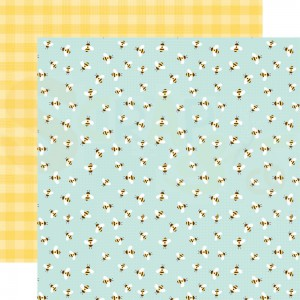 Echo Park Paper, Welcome Spring WES235007, Bumblebee Breeze