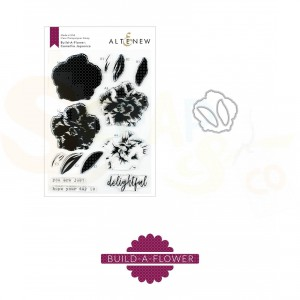 Altenew, build-a-flower Camellia Japonica  (stempel + stans) ALT3355