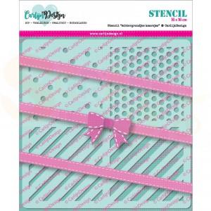 Carlijn Design, stencil CDSC-0008, Achtergrondjes Kaarsjes