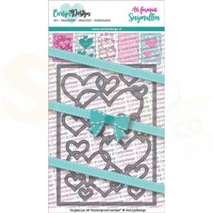 Carlijn Design, snijmal CDSN-0088, Achtergrond Hartjes A6