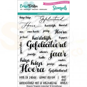 Carlijn Design, clearstamp CDST-0042, Elegante verjaardag