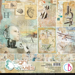 Ciao Bella, Paperpad 12x12 Sign of the Times CBPM044