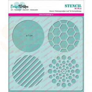 Carlijn Design, stencil CDSC-0001, Achtergrondjes rond