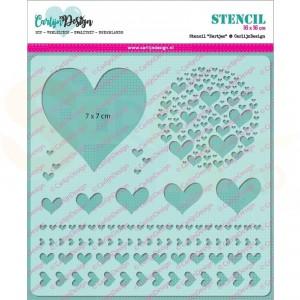 Carlijn Design, stencil CDSC-0003, Hartjes