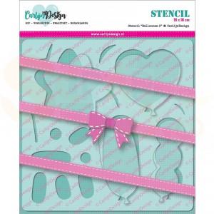 Carlijn Design, stencil CDSC-0004, Ballonnen 2