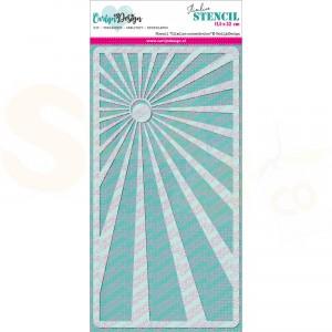 Carlijn Design, stencil CDSC-0010, Slimline Zonnestralen