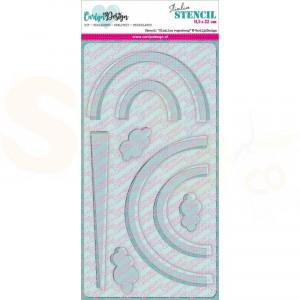 Carlijn Design, stencil CDSC-0012, Slimline Regenboog