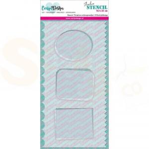 Carlijn Design, stencil CDSC-0013, Slimline achtergrondjes 1