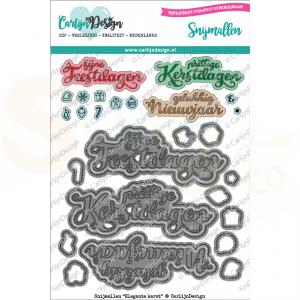 Carlijn Design, snijmal CDSN-0025, Elegante Kerst