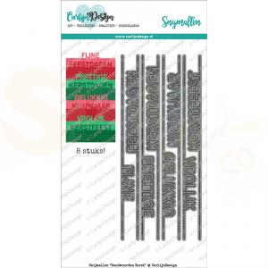 Carlijn Design, snijmal CDSN-0033, Randwoorden Kerst