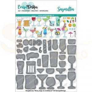 Carlijn Design, snijmal CDSN-0046, Bier wijn en cocktails
