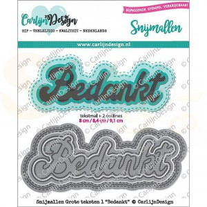 Carlijn Design, snijmal CDSN-0047, Grote teksten 1 Bedankt
