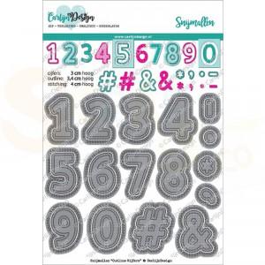 Carlijn Design, snijmal CDSN-0056, Outline cijfers