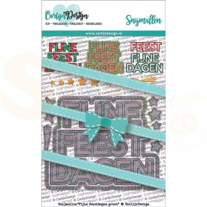 Carlijn Design, snijmal CDSN-0065, Fijne feestdagen groot