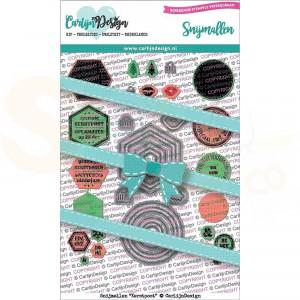 Carlijn Design, snijmal CDSN-0071, Kerstpost