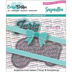 Carlijn Design, snijmal CDSN-0072, Grote teksten 3 Jarig