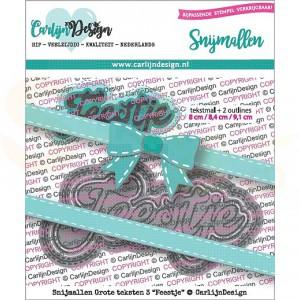 Carlijn Design, snijmal CDSN-0073, Grote teksten 3 Feestje