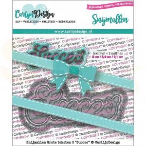 Carlijn Design, snijmal CDSN-0074, Grote teksten 3 Succes