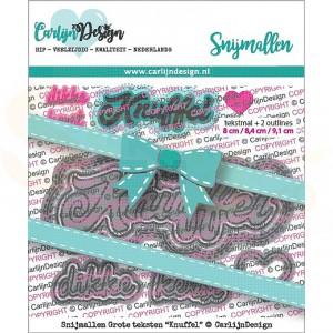Carlijn Design, snijmal CDSN-0077, Grote teksten Knuffel