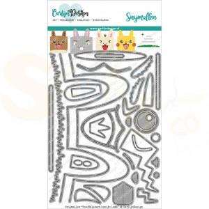 Carlijn Design, snijmal CDSN-0093, Knuffelkaart konijn lama