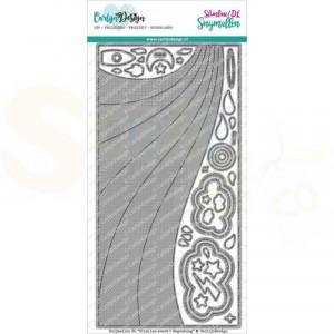 Carlijn Design, snijmal CDSN-0100 DL Slimline kaart 5 Regenboog