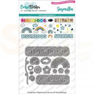Carlijn Design, snijmal CDSN-0101 Regenboog & Sterren