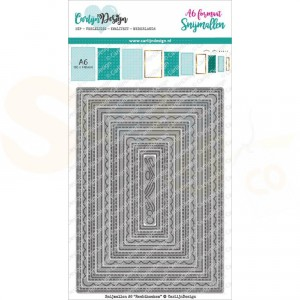 Carlijn Design, snijmal CDSN-0103 A6 Rechthoeken