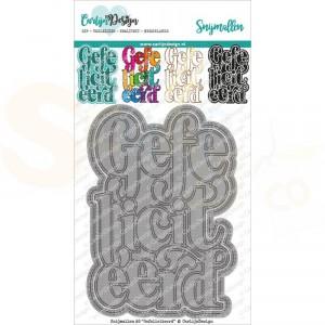 Carlijn Design, snijmal CDSN-0123 A6 Gefeliciteerd
