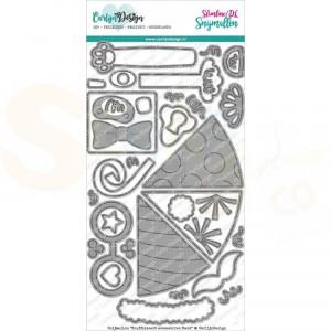 Carlijn Design, snijmal CDSN-0132 Knuffelkaart accessoires Feest