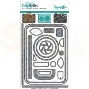 Carlijn Design, snijmal CDSN-0017, Koffer en camera
