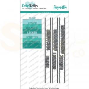 Carlijn Design, snijmal CDSN-0021, Randwoorden Zomer
