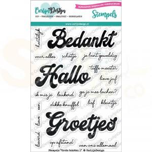 Carlijn Design, clearstamp CDST-0049, Grote teksten 1