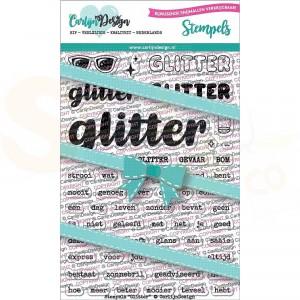 Carlijn Design, clearstamp CDST-0052, Glitter