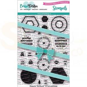 Carlijn Design, clearstamp CDST-0054, Kerstpost