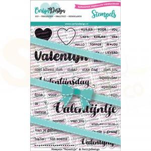 Carlijn Design, clearstamp CDST-0059, Valentijn