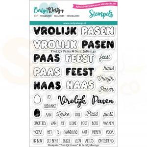 Carlijn Design, clearstamp CDST-0060, Vrolijk Pasen