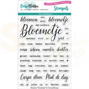 Carlijn Design, clearstamp CDST-0063, Bloemetje