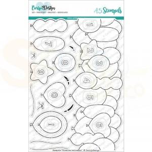 Carlijn Design, clearstamp CDST-0072 Ballonnen