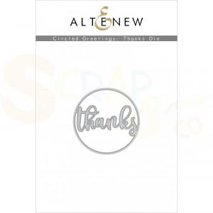 Altenew, die set Circled Greetings Thanks ALT4225