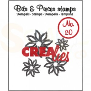 CLBP20 clearstamp bits&pieces no.20 flowers 4