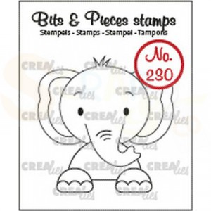 CLBP230, CreaLies clearstamp bits&pieces no.230 Olifant