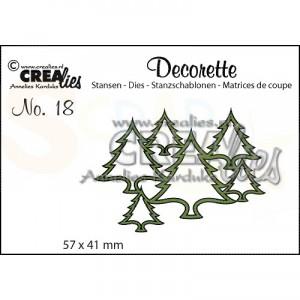 CreaLies, CLDR18 Decorette stans no. 18 Verstrengelde boompjes