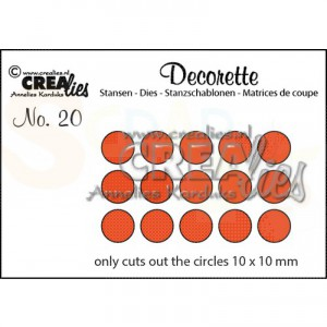 CreaLies, CLDR20 Decorette stans no. 20 Only circles